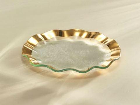 "Ruffle 9.5"" Glass Salad Plate"