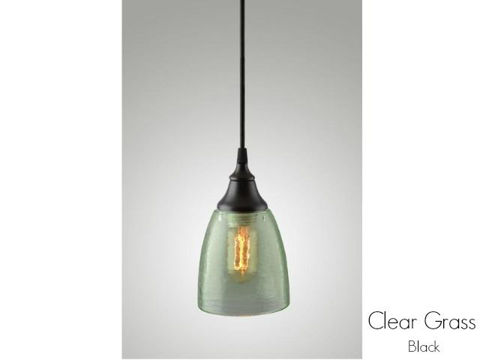 Clear Glass Pendant Light in Grass