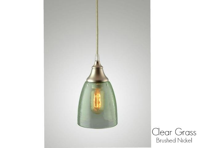 Picture of Clear Glass Pendant Light in Grass