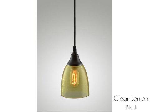 Clear Glass Pendant Light in Lemon