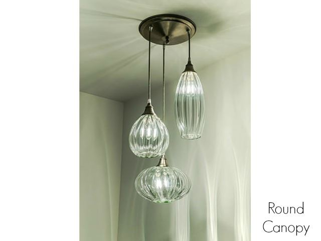 Picture of Clear Glass Pendant Light in Lemon