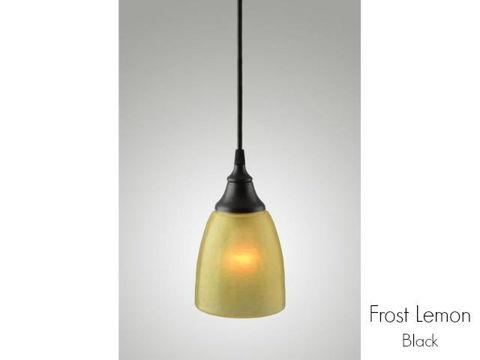Frost Glass Pendant Light in Lemon