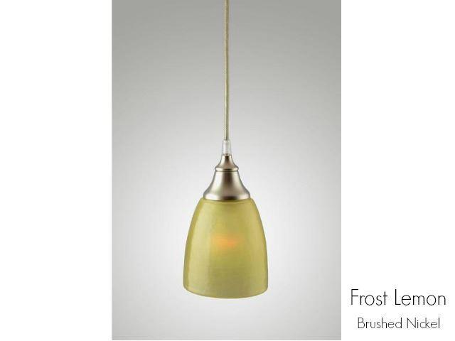 Picture of Frost Glass Pendant Light in Lemon