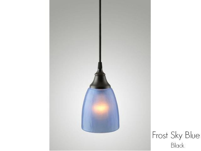 Picture of Frost Glass Pendant Light in Sky Blue