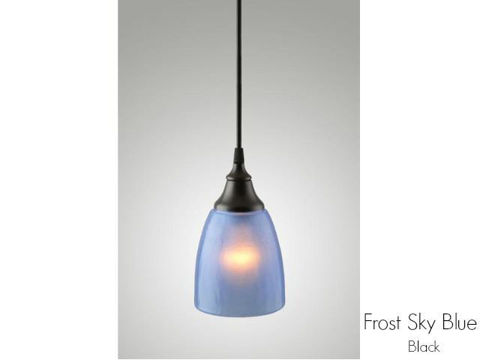 Frost Glass Pendant Light in Sky Blue