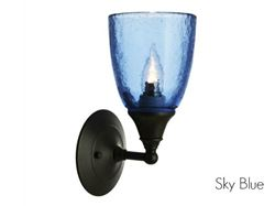 Picture of Clear Glass Sconce in Sky Blue