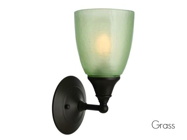 Picture of Frost Glass Sconce in Grass