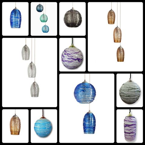 Spun Glass Pendant Light | Cerulean II