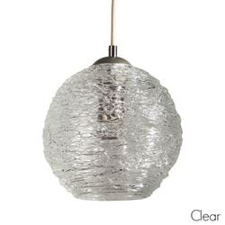Picture of Spun Glass Pendant Light | Clear II