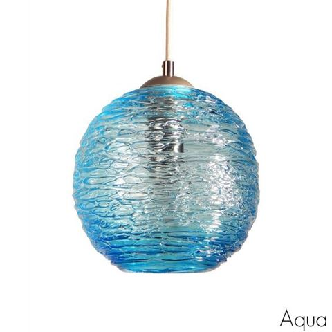 Spun Glass Pendant Light | Aqua II