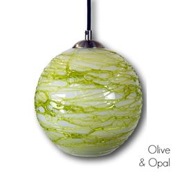 Spun Glass Pendant Light | Green II