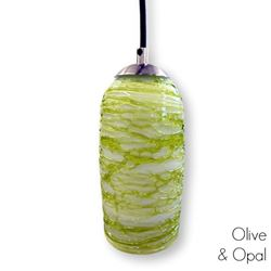 Spun Glass Pendant Light | Green I