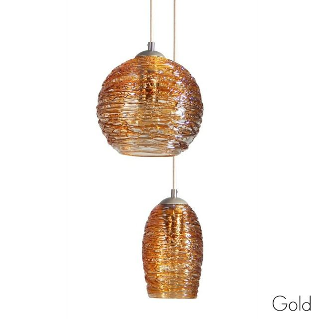 Picture of Spun Glass Pendant Light | Gold