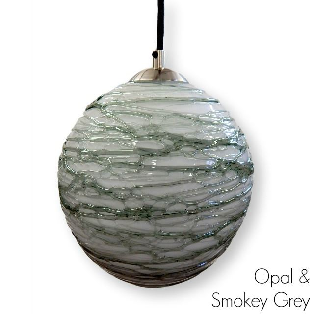 Picture of Spun Glass Pendant Light | Smokey II