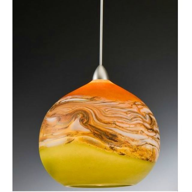 Picture of Blown Glass Pendant Light | Strata TL