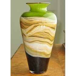 Picture of Blown Glass Vase | Lime Strata