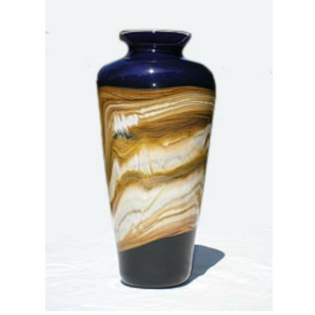 Picture of Blown Glass Vase | Cobalt Strata