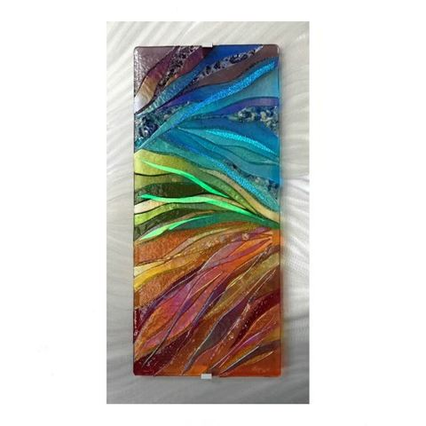 Rainbow Ballet Glass Wall Panel
