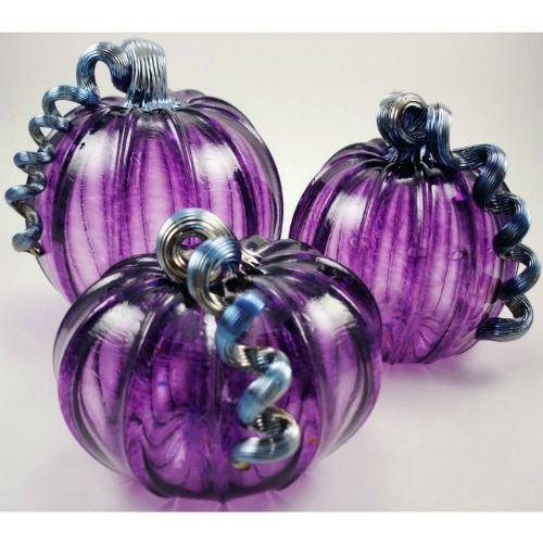 Picture of Plum Glass Pumpkin