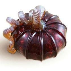 Picture of Cranberry Glass Pumpkin