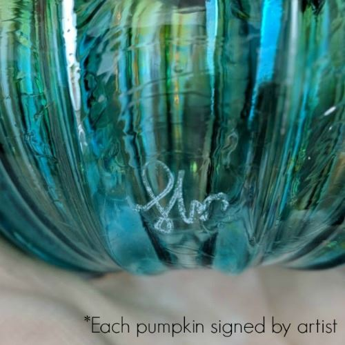 Picture of Jack Frost Glass Pumpkin