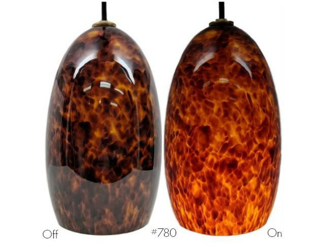 Picture of Blown Glass Pendant Light | Campfire