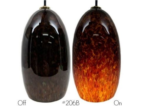 Blown Glass Pendant Light | Root Beer