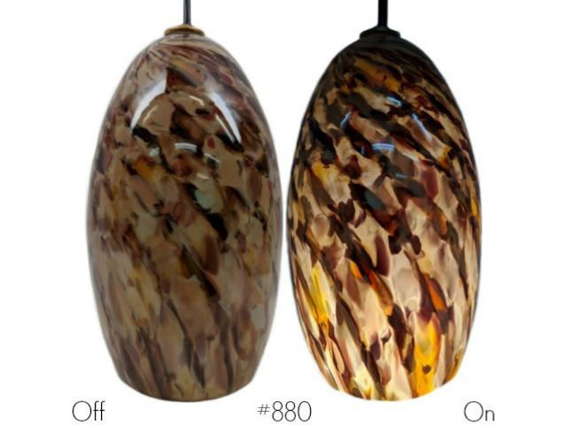 Picture of Blown Glass Pendant Light | Sandy Rose