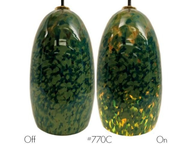 Picture of Blown Glass Pendant Light   Lily Pond