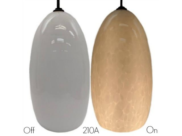 Picture of Blown Glass Pendant Light   Alabaster