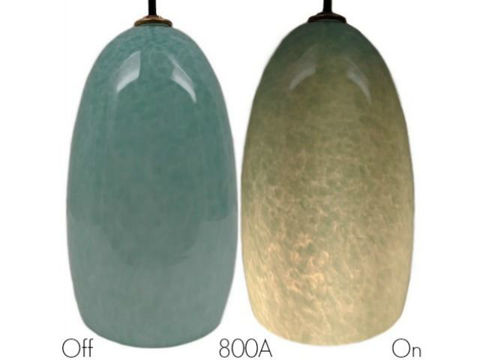 Blown Glass Pendant Light | Celadon