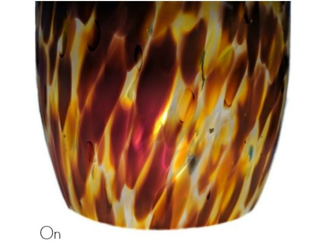 Picture of Blown Glass Pendant Light | Creamsicle
