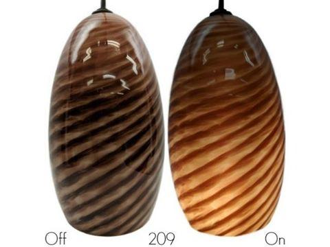 Blown Glass Pendant Light   Rustic