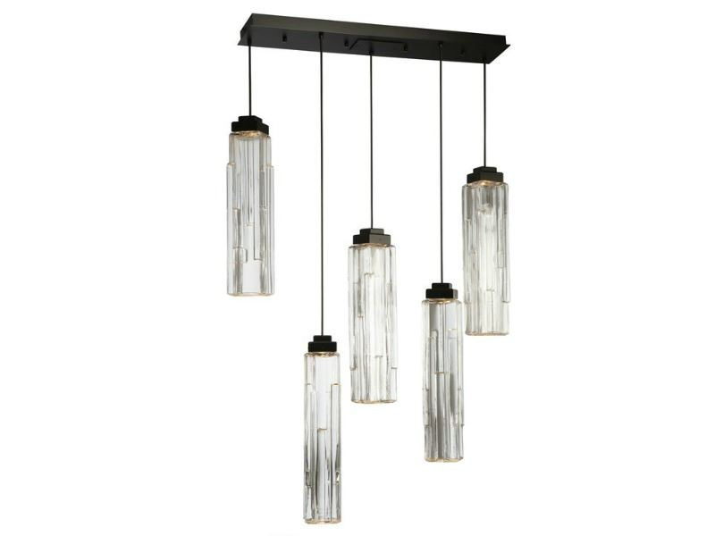 Picture of Linear Chandelier | Ledgestone | 5 or 7 pc