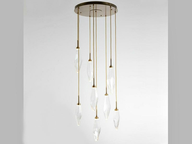 Picture of Rock Crystal Round Multi-Port Pendant Chandelier 8 pc