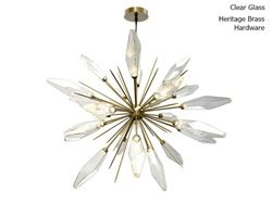 Rock Crystal Starburst Chandelier 60""