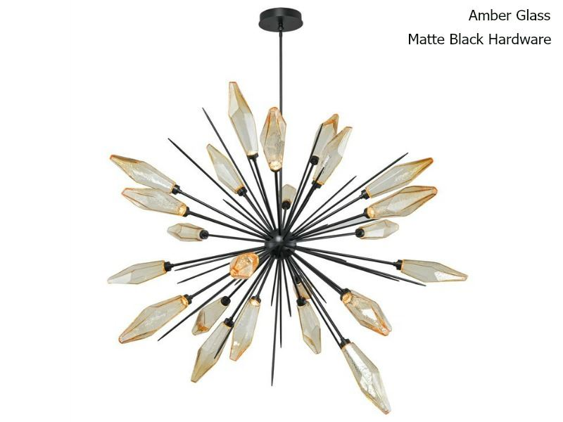 Picture of Rock Crystal Starburst Chandelier 72""