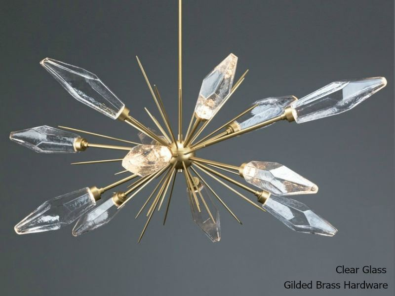 Picture of Rock Crystal Oval Starburst Chandelier