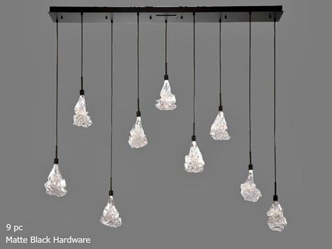 Linear Chandelier   Blossom 9