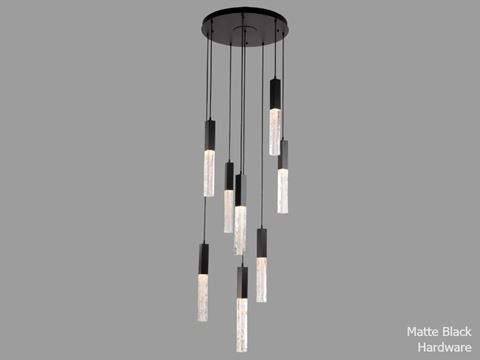 Axis Round Multi-Port Chandelier 8 pc