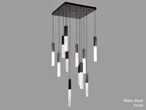 Axis Square Multi-Port Chandelier 12 pc