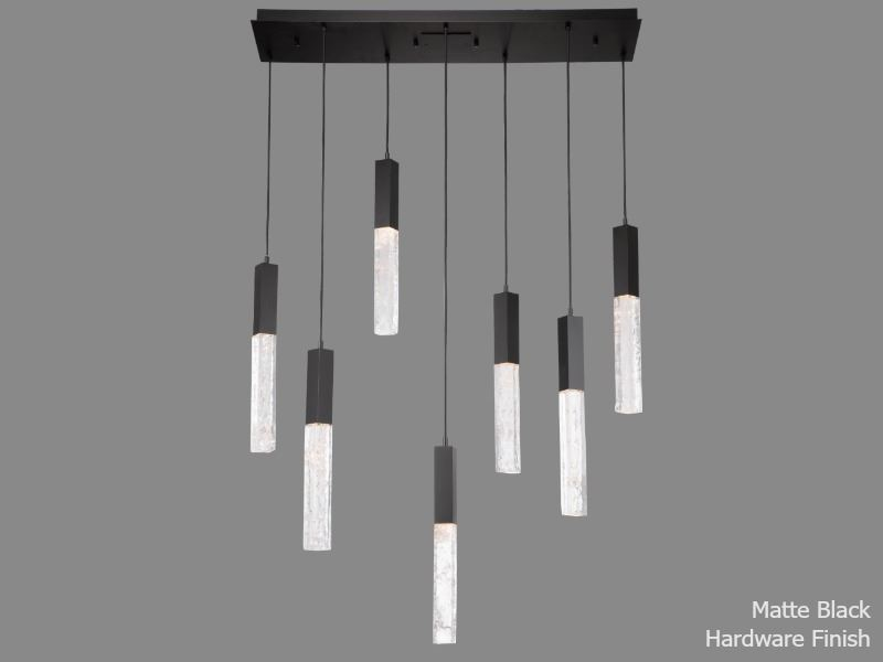 Picture of Linear Chandelier | Axis | 7 pc