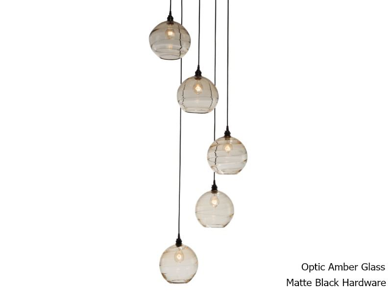 Picture of Terra Round Multi-Port Pendant Chandelier 5 pc