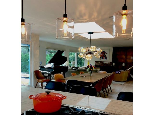 Picture of Blown Glass Pendant Light   Apothecary