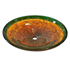 "Picture of 20"" Golden Amber Nest Glass Vessel Sink"