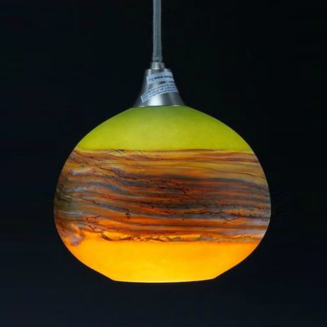 Picture of Blown Glass Pendant Light | Strata LT