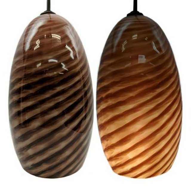 Picture of Blown Glass Pendant Light   Rustic
