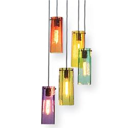 Selena Multi Port Glass Pendant Chandelier 5 Pc