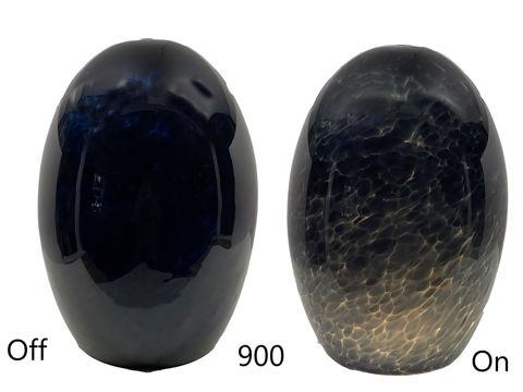 Blown Glass Pendant Light |  Steely Blue Waves