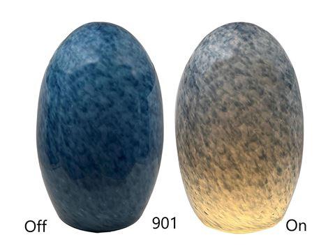 Blown Glass Pendant Light |  Marled Steel Blue